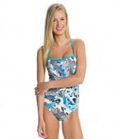 Nike Tie Dye Floral Lingerie Tank One Piece Swimsuit