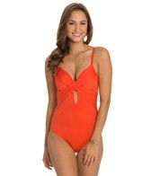 Kenneth Cole Sunset Cliffs Underwire Wrap One Piece Swimsuit