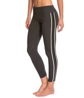 Solow Long Legging with Stripe Trim and Inset Leather