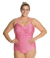 esther-williams-plus-gingham-classic-sheath-one-piece