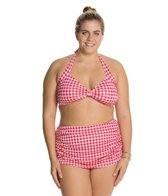 Esther Williams Plus Gingham Classic Two Piece Set