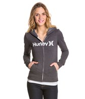 Hurley One & Only Slim Fleece Zip Up Hoodie