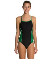 Dolfin Team Color Color Block Female V-2 Back One Piece Swimsuit