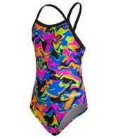 Dolfin Winners Nitro Youth V-2 Back One Piece Swimsuit