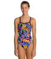 Dolfin Winners Nitro Female V-2 Back One Piece Swimsuit