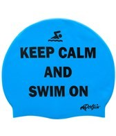 Dolfin Keep Calm and Swim On Silicone Swim Cap