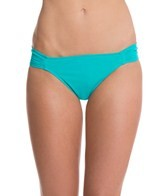 Sunsets Tropical Teal Banded Hipster Bikini Bottom