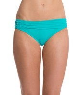 Sunsets Tropical Teal Roll Top Hipster Bikini Bottom
