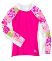 Tuga Girls' Happy Hibiscus L/S Swim Shirt (3mos-14yrs)