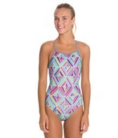 Dolfin Uglies Quinta Print Womens V-2 Back One Piece Swimsuit