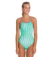 Dolfin Uglies Splashdots Print Womens V-2 Back One Piece Swimsuit