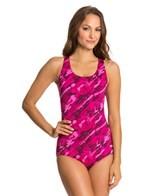 Dolfin Aquashape Conservative Marina Print Lap Suit
