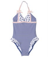 Hula Star Girls' Anchored Halter One Piece (2T-4T)