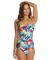 Jag A Week In Antigua Bandeau One Piece Swimsuit