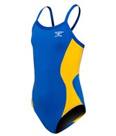 The Finals Swerve Splice Youth Butterfly Back One Piece Swimsuit