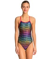 The Finals Funnies Sparkle Blast Foil Female Wing Back One Piece Swimsuit