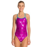 The Finals Funnies Right Angle Foil Female Wing Back One Piece Swimsuit