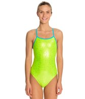 The Finals Funnies Peace and Love Foil Female Wing Back One Piece Swimsuit