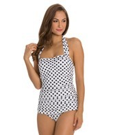 Esther Williams Polka Dot Classic Sheath Halter One Piece Swimsuit