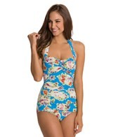 Esther Williams Seaside Classic Sheath One Piece Swimsuit