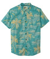 Reef Men's Blurry Palms Short Sleeve Shirt