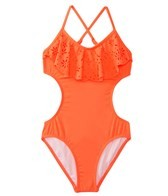 Seafolly Girls Summer Camp Cut Out Monokini (6-16)