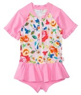 Seafolly Girls Roses Are Pink UV Playsuit (0mos-7yrs)
