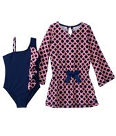 Cabana Life Girls' Mod Squad Swim & Terry Cover Up Set (6mos-4T)