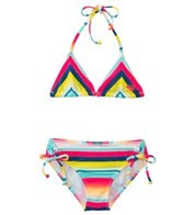 Roxy Girls' Sunsetter Tiki Triangle Set (7-16)