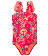 Roxy Girls' Beach Bound Ruffle One Piece (2-6)