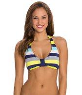 Jag Swimwear Santa Lucia Stripe Bra Size Halter Bikini Top