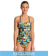 Swimoutlet Exclusive Nike Finish Line Cut Out Tank One Piece Swimsuit