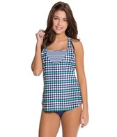 Splendid Mosaic Double Dip Tankini Top