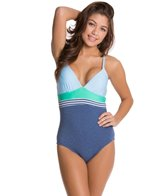 Splendid Blues Too Crossback One Piece Swimsuit