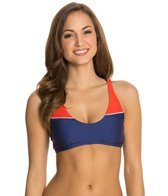 Splendid Sunblock Solid Sports Bra Bikini Top