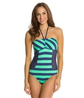 Splendid Marcel Stripe Bandeau One Piece Swimsuit
