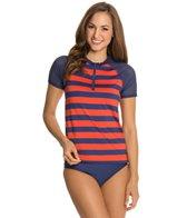 Splendid Marcel Stripe S/S Surf Shirt