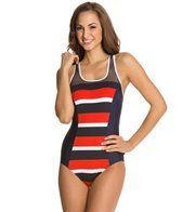 Nautica Safe Haven Racerback One Piece Swimsuit