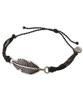 Pura Vida Silver Feather Black Bracelet