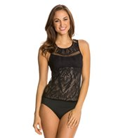Luxe by Lisa Vogel Sport High Neck Tankini Top