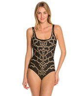 Luxe by Lisa Vogel Delicacy Square Neck One Piece Swimsuit