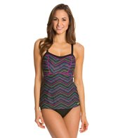 Nike Fitness Disruptive Geo FauxKini One Piece Swimsuit