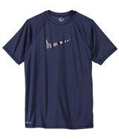 Nike Men's Hydro UV Gloss Swoosh S/S Rashguard