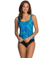 Maxine Ethnic Twist Scoop Tankini Top