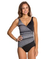Maxine Diamond Girl Shirred Surplus One Piece Swimsuit