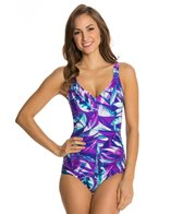 Maxine Baha Beauty Side Shirred One Piece Swimsuit