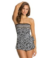 Maxine Border Skin Bandeau Sarong One Piece Swimsuit