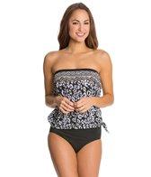 Maxine Border Skin Bandeau Blouson Bikini Top