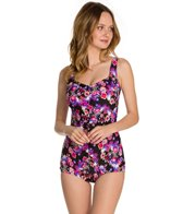 Maxine Diamond Diva Shirred Front Girl Leg One Piece