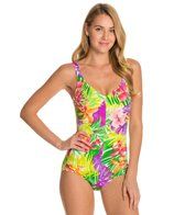 Maxine Hawaii Vibe Side Shirred One Piece Swimsuit